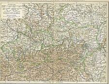 Karte ÖSTERREICH / NIEDER- und OBER-ÖSTERREICH 1894 Original-Graphik