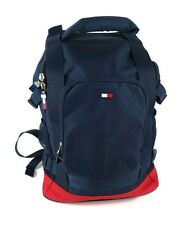 Tommy Hilfiger Navy Blue/Red Flag Zip-Around Backpack Carry All Travel Tote Bag