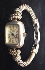 Anne Klein Ladies Watch Sterling Silver Case/Bracelet  753S Swiss Mvt 12/6187
