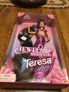 1995 Jewel Hair Mermaid Teresa Barbie NRFB 14588