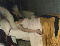 Santiago Rusinol The Morphine'S Girl Poster Reproduction Giclee Canvas Print