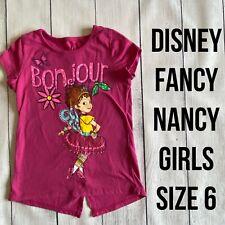 DISNEY Girls Size 6 FANCY NANCY Cap Sleeve T-Shirt