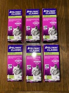 Feliway Classic Pheromone Spray for Cats Anxiety Relief Stress 6X20ml Exp 10/21