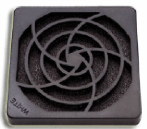 92mm Plastic Fan Filter & Grill, Black