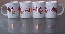 Sanyei - Porcelain Coffee Cups - Angels Blowing Horns - Four