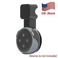 Black Outlet Wall Mount Holder Bracket for Amazon Echo Dot 3rd Gen Speaker Stand