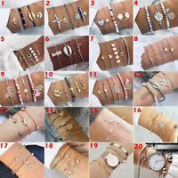 2019 Women Jewelry Cuff Wristband Bracelet Chain Beads Bangle Party Fashion Gift