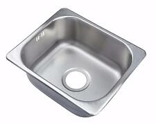Small 1.0 Single One Bowl Matt Brushed Stainless Steel Inset Kitchen Sink A11 bs
