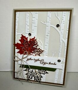 Stampin' Up! Deluxe Thanksgiving Holiday Hand Made 4 Card Kit With Envelopes