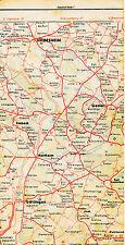 """Hildesheim Göttingen 1938 orig Teil-Straßenkarte Reichsautobahn """"falsche"""" Trasse"""