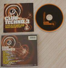 RARE CD album COMPILATION CLUB TECNO VOL 3 20 TITRES 2002