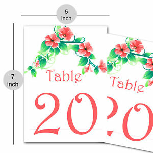 Designer Calligraphy Paper Table Number Guest Name & Number Placecard DIY Table
