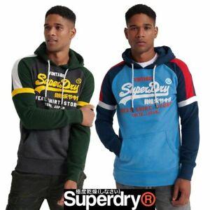 Men's **Superdry** Hooded Sweatshirt Vintage Pullover Jumper Hoodie Tops SZ S-XL