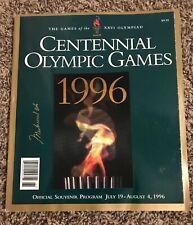 Muhammad Ali SIGNED CENTENNIAL OLYMPIC GAMES 1996 Program JSA LOA WOW RARE