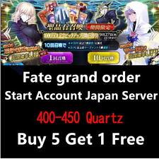 (Buy 5 get 1)Fate Grand Order Fate GO F/GO 400-450 Quartz Starter Account
