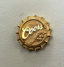 Coors Brewing Company 5 Years 10k Gold Corporate Symbol Lapel Pin ~ Bottle Cap ~