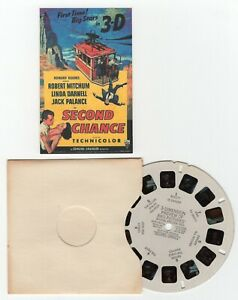 SECOND CHANCE - Robert Mitchum Linda Darnell RARE 1953 View-Master Movie Reel