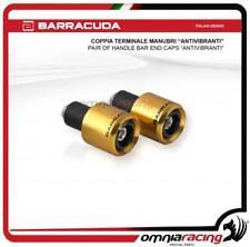 tappi terminali per manubrio 17 mm 1 coppia di manopole per manubrio moto in lega di alluminio colore: giallo Giallo