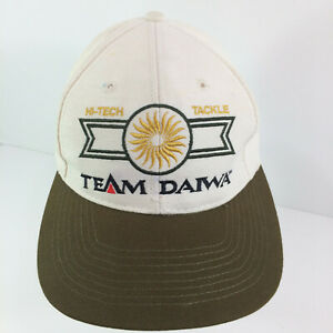 Team Daiwa Fishing Hi-Tech Tackle Baseball Cap Snapback Ivory with Brown Bill