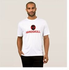 Handskull T-Shirt  small mens (UK) Micro Fiber white
