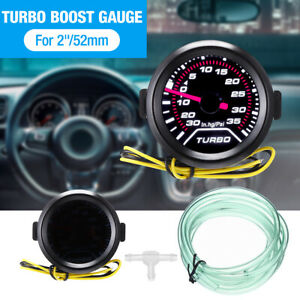 52mm Turbo Boost Pressure Pointer Gauge Meter Smoked Dials 30Psi Pob LED UK