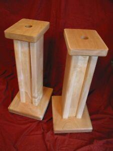 Audio Elegance, Standman,  Maple speaker stands, audio, video, stereo stand
