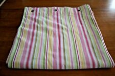 Shower Curtain Pottery Barn Chambray Stripe Green Pink Green Yellow White Cotton