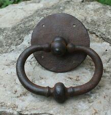 ancien marteau ou heurtoir de porte  poignée loquet targette verrou serrure