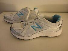 New Balance Womens Blue White Athletic Shoes Sneakers walking strike path Sz 7.5