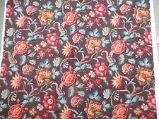 Lovely unused 1930's vintage floral slub Sanderson Indecolor fabric - 1M lengths