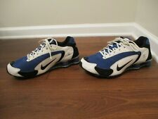 Classic 2008 Used Worn Size 12 Nike Shox Inferno Shoes Blue Black White Silver