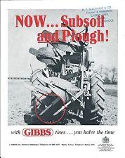 Farm Implement Brochure - Gibbs Mark Iii Subsoil Tyne Attachment c1970's (F5130)