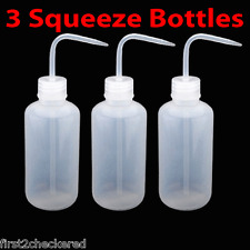 3X Tattoo Squeeze Bottles Diffuser Wash Green Soap Non spray Clear 250mL 8oz NEW