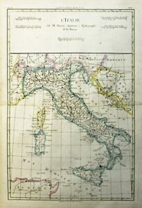 1781 Bonne Map of Italy