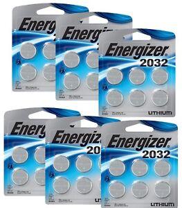 Energizer 2032-6pk Lithium Batteries X 6 (36 batteries) New