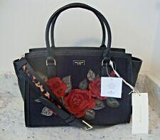 BRAND Kate Spade Seeley Lane Floral Lana Black Roses Satchel Handbag