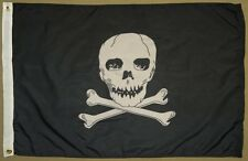 Pirate Jolly Roger With Crossed Bones 3x5 ft. Flag Rodger