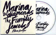 MARINA & THE DIAMONDS Family Jewels Album Sampler UK 5trk promo test CD card slv