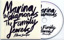MARINA & THE DIAMONDS Family Jewels Album Sampler UK 5trk promo test CD card slv