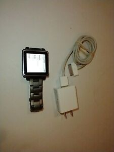 iPod Nano 6th Generation with optional Hex watch Band works great w/songs