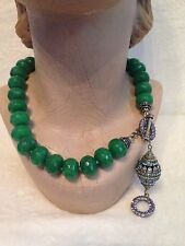 Heidi Daus GRAND MUSEUM Green Agate Necklace - SOLD OUT!!!