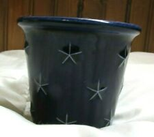 Longaberger Dark Blue Stars Ceramic Votive Cup Holder Proudly American