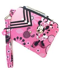 New listing Pink-Minnie-Mouse-Handm ade-Money-Coin-Id-Credit Card-Wristlet-Purse-Pouch