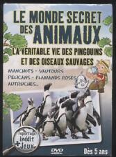 NEUF DVD LE MONDE SECRET DES ANIMAUX PINGOUINS ET OISEAUX SAUVAGES  DES 5 ANS