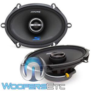 "ALPINE S-S57 CAR 6""x8"" 5""x7"" AUDIO 230W 2-WAY SILK TWEETERS COAXIAL SPEAKERS NEW"