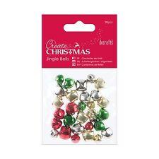 Glöckchen Jingle bells 30 Stück 8 mm 10 mm 12 mm bunt Xmas DoCrafts PMA 356901