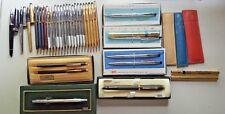 Cross Pen & Pencil Lot of 33 14k-12k-10k GF. Gold & chrome & colored
