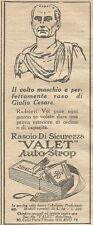 W1378 Rasoio di sicurezza VALET Autostrop - Pubblicità 1926 - Vintage Advert