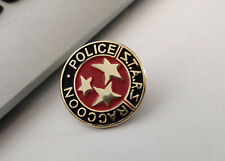 RESIDENT EVIL STARS S.T.A.R.S. RACCOON P PIN -RED AND BLACK PIN