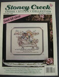 Counted Cross Stitch Collection Magazine By Stoney Creek 15 Projects Jan 1992
